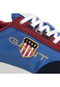 Sneakersy GANT - Garold 22639640 Blue/Black G605. Kolor: niebieski. Materiał: zamsz, materiał, skóra. Szerokość cholewki: normalna