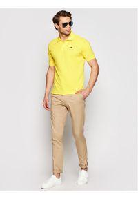La Martina Polo BPMP01 PK031 Żółty Regular Fit. Typ kołnierza: polo. Kolor: żółty