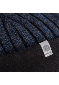 Zimowa czapka męska PaMaMi - Granatowa mulina. Kolor: niebieski. Materiał: akryl. Sezon: zima. Styl: elegancki #1