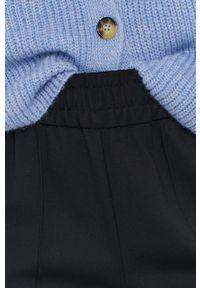 only - Only - Spodnie. Kolor: czarny. Materiał: wiskoza, dzianina, materiał. Wzór: gładki