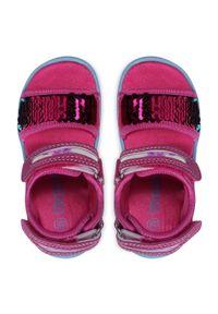 Kappa - Sandały KAPPA - Seaqueen K 260767K Pink/Blue 2260. Kolor: różowy. Materiał: skóra ekologiczna, materiał. Wzór: aplikacja