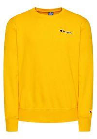 Champion Bluza Small Script Logo 215931 Żółty Comfort Fit. Kolor: żółty
