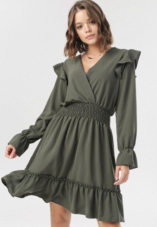 Brązowa sukienka mini Born2be