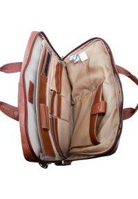 Brązowa torba na laptopa MCKLEIN casualowa