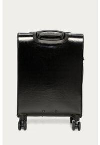 Czarna walizka Love Moschino z aplikacjami