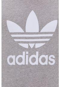 adidas Originals - T-shirt bawełniany. Okazja: na co dzień. Kolor: szary. Materiał: bawełna. Wzór: nadruk. Styl: casual
