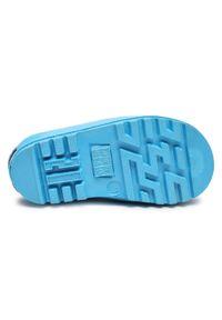 Niebieskie kalosze Playshoes marine, z cholewką, z aplikacjami