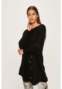 Czarny sweter ANSWEAR z dekoltem w łódkę