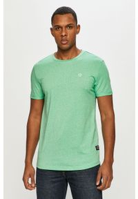 Zielony t-shirt Tom Tailor casualowy, na co dzień, gładki