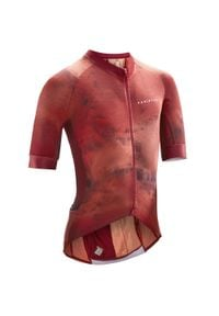 VAN RYSEL - Koszulka na rower szosowy ENDURANCE RACER. Kolor: różowy. Materiał: mesh, tkanina. Sport: kolarstwo