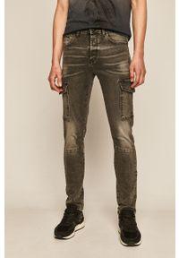 Czarne jeansy medicine w kolorowe wzory, casualowe
