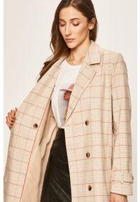 Kremowy płaszcz Vila na co dzień, casualowy #7