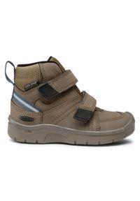 Brązowe buty zimowe keen z cholewką