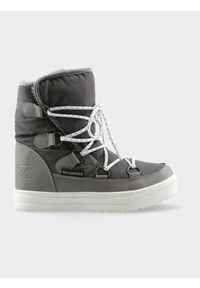 Szare buty zimowe 4f casualowe, na zimę, na co dzień