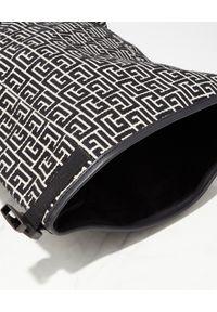 Balmain - BALMAIN - Plecak z monogramem. Kolor: czarny. Materiał: tkanina, materiał