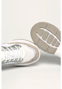 Białe buty sportowe ANSWEAR na sznurówki, z cholewką, na obcasie