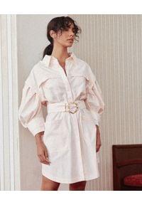 ACLER - Koszulowa sukienka Kindsway. Kolor: fioletowy, różowy, wielokolorowy. Materiał: bawełna. Typ sukienki: koszulowe. Długość: mini
