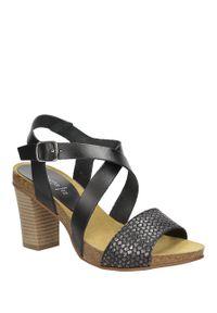 Czarne sandały Marila na lato, casualowe