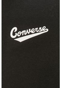 Czarna bluza rozpinana Converse z kapturem, casualowa, na co dzień