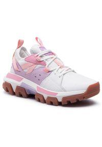 CATerpillar - Sneakersy CATERPILLAR - Raider Sport P110296 Bright White/Lilac. Okazja: na co dzień. Kolor: beżowy. Materiał: skóra, materiał. Szerokość cholewki: normalna. Sezon: lato. Styl: sportowy