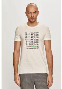 Biały t-shirt Tom Tailor na co dzień, casualowy, z nadrukiem