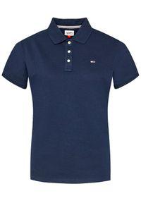 Tommy Jeans Polo Tjw DW0DW09199 Granatowy Slim Fit. Typ kołnierza: polo. Kolor: niebieski