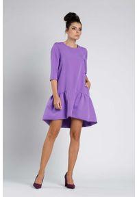 Fioletowa sukienka wizytowa Nommo wizytowa
