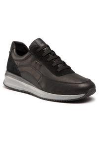 Czarne sneakersy Geox z cholewką, na co dzień