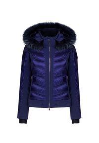 Niebieska kurtka narciarska Descente