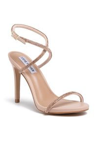 Różowe sandały Steve Madden eleganckie, z aplikacjami