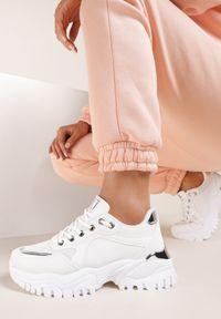 Renee - Białe Sneakersy Azaerixis. Kolor: biały. Materiał: nubuk, syntetyk
