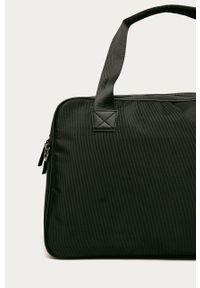 Czarna torba Trussardi Jeans casualowa, z aplikacjami