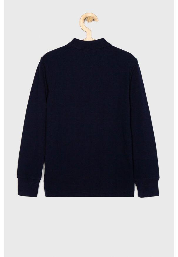 Niebieska koszulka z długim rękawem Polo Ralph Lauren krótka, polo