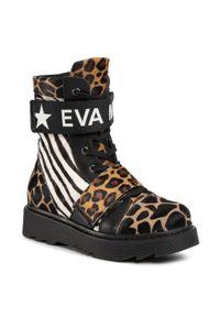 Eva Minge - Botki EVA MINGE - EM-23-08-001022 618. Okazja: na co dzień. Kolor: czarny, złoty, wielokolorowy. Materiał: skóra. Szerokość cholewki: normalna. Sezon: jesień, zima. Styl: casual