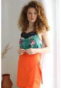 Pomarańczowa spódnica Nommo krótka