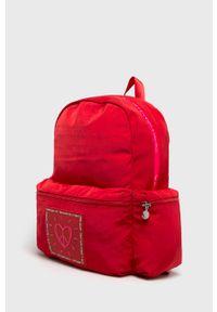 Czerwony plecak Desigual z nadrukiem