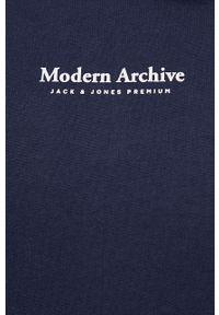 Premium by Jack&Jones - Bluza bawełniana. Okazja: na co dzień. Kolor: niebieski. Materiał: bawełna. Styl: casual