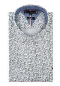 TOMMY HILFIGER - Tommy Hilfiger Koszula Flex Floral Print MW0MW16446 Biały Slim Fit. Kolor: biały. Wzór: nadruk