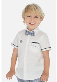 Biała koszula Mayoral krótka, elegancka, na co dzień