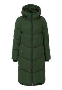 Cellbes Długi płaszcz z puszystą wyściółką ciemnozielony female zielony 58/60. Kolekcja: plus size. Kolor: zielony. Materiał: poliester, polar, prążkowany. Długość: długie. Sezon: zima. Styl: klasyczny
