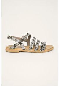 Szare sandały Crocs na klamry, bez obcasa