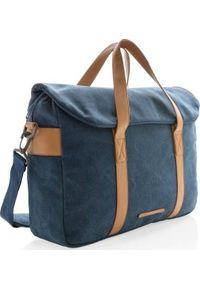 Niebieska torba na laptopa XD COLLECTION elegancka