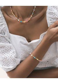 CAROLINE SVEDBOM - Bransoletka z białego złota Calanthe. Materiał: złote. Kolor: biały. Wzór: aplikacja, kolorowy. Kamień szlachetny: kryształ