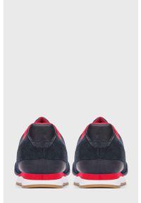 Niebieskie sneakersy Kazar Studio z okrągłym noskiem, na sznurówki, z cholewką