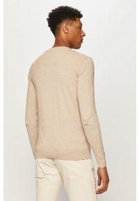 Tom Tailor - Sweter. Okazja: na co dzień. Kolor: beżowy. Materiał: dzianina. Długość rękawa: długi rękaw. Długość: długie. Styl: casual