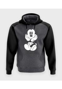 MegaKoszulki - Bluza męska dwukolorowa Myszka Mickey. Wzór: motyw z bajki