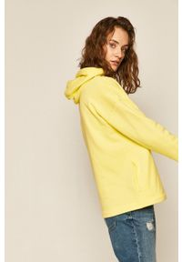 Żółta bluza medicine z kapturem
