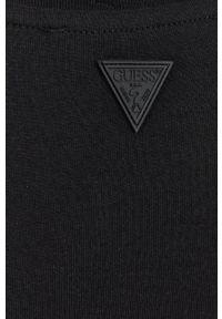 Guess - T-shirt bawełniany. Okazja: na co dzień. Kolor: czarny. Materiał: bawełna. Wzór: aplikacja. Styl: casual