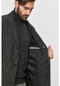 Czarny płaszcz Calvin Klein na co dzień, bez kaptura