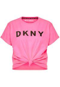 Różowy t-shirt DKNY Sport sportowy